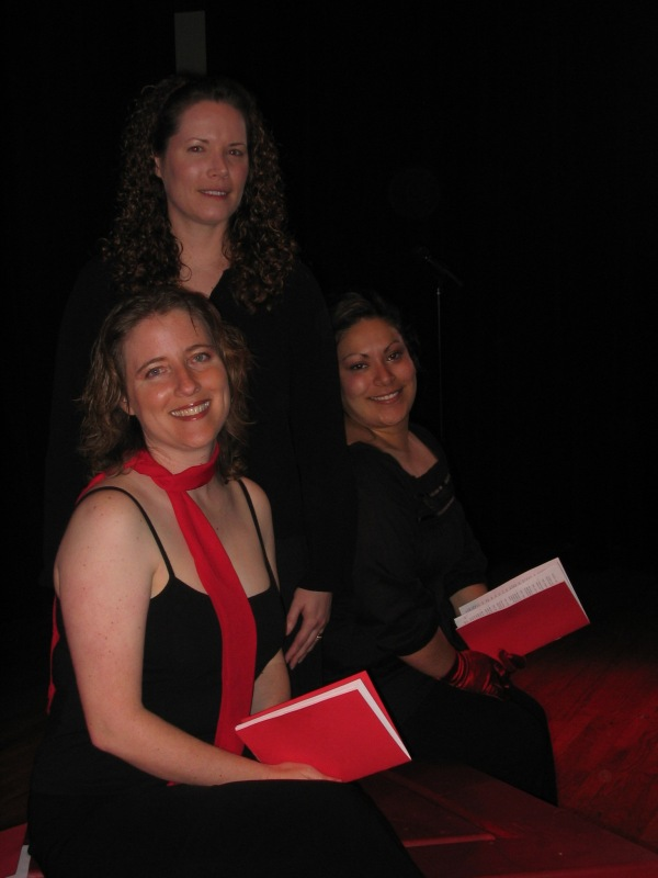 Cast photo from our very first Vagina Monologues production in 2007!  Just three cast members and Eleisa Cambra directing!