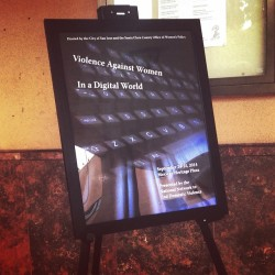 Violence Against Women in a Digital World training!