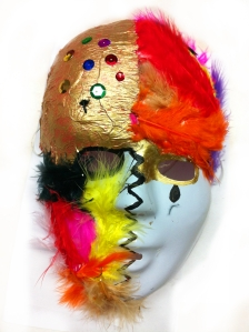 Hope is the thing with feathers that perches in the soul. - Inside/Outside mask, mixed media