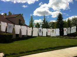 Clothesline Project at Tri-Valley Haven