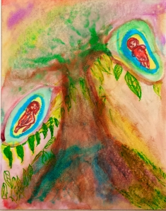 The Tree of my Grandchildren - Watercolor on Cold Press